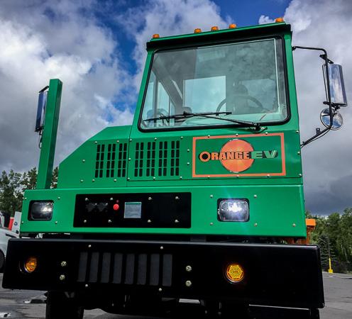 Orange EV Pure-Electric Terminal Truck