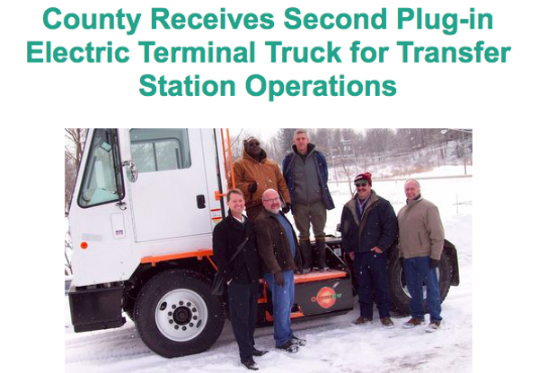 Chautauqua County Receives Second Orange EV Pure-Electric Terminal Truck