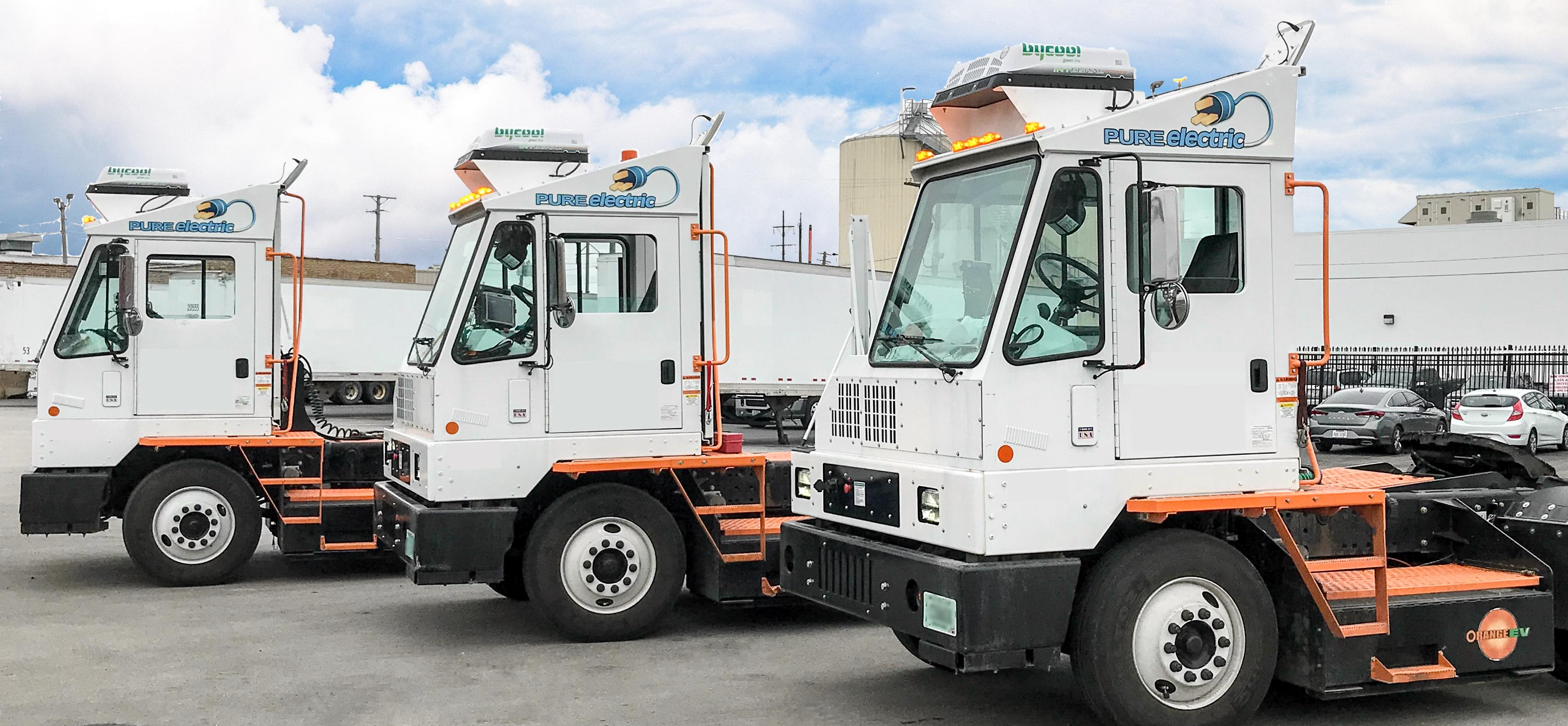 Orange EV Pure Electric Terminal Trucks