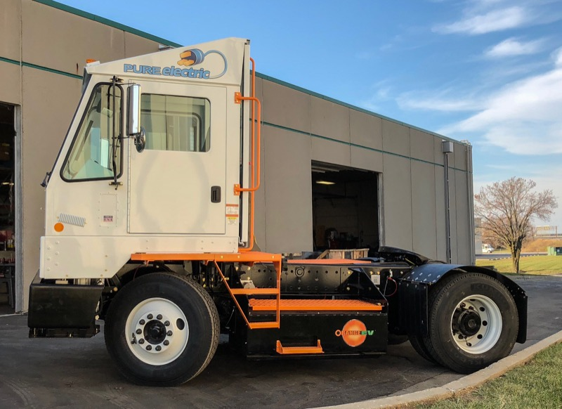 Orange EV Pure Electric Terminal Truck 9c