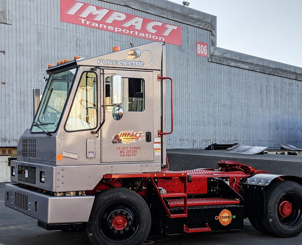 Impact Transportation deploys Orange EV Pure-Electric Terminal Truck to Port of Oakland operations